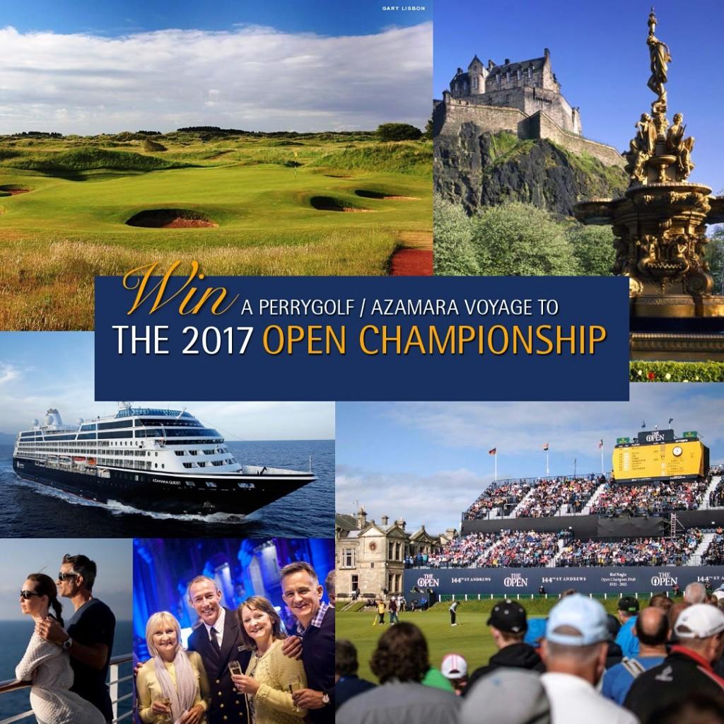 2017 Contest - Open Championship Golf Cruise with PerryGolf  Azamara Club Cruises - No CTA